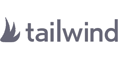 Greyscale logo for the Tailwind website, which uses Tasty Pins