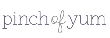 Logo for the Pinch of Yum blog, which uses Tasty Recipes