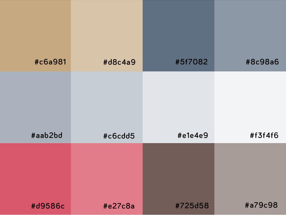 Recipes Card Color Palettes